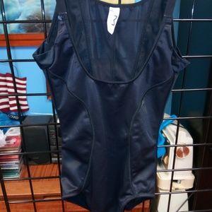 Maidenform Black sz M Shapewear bodysuit romper